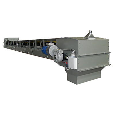 Belt Conveyors for Bulk Materials Handling with contrast in Inox for magnetic selection
