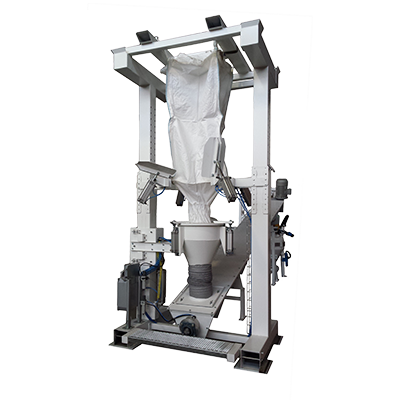 Big Bag Unloading Systems with Constructive materials: Fe, AISI 304L, AISI 316L