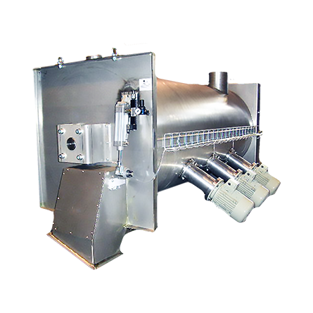 Continuous mixer for powder Made in AISi 304 - AISI 316 - S235JR - Wear-resistant steel